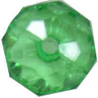 12mm Clear Green Abacus Acrylic Bead