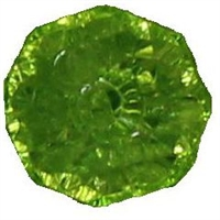 12mm Clear Lime Abacus Acrylic Bead