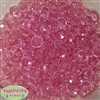 12mm Clear Pink Abacus Acrylic Beads