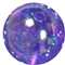 12mm Purple AB Finish Clear Acrylic Bubblegum Bead
