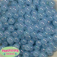 12mm Baby Blue AB Finish Bubble Acrylic Bubblegum Beads
