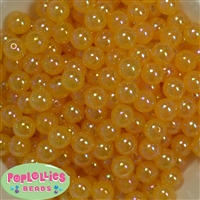 12mm Gold AB Finish Bubble Acrylic Bubblegum Beads