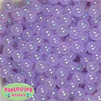 12mm Lavender Bubble Bead Acrylic Bubblegum Beads Bulk