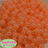 12mm Orange AB Finish Bubble Acrylic Bubblegum Beads