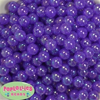 12mm Purple Bubble Bead Acrylic Bubblegum Beads Bulk
