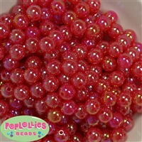 12mm Red Bubble Bead Acrylic Bubblegum Beads