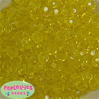12mm Yellow Faceted Acrylic Bubblegum Beads
