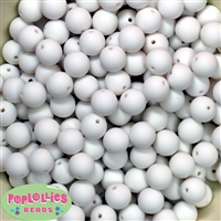 12mm Chalk White acrylic faux pearl bead