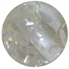 12mm Acrylic White Clear Marble Bead