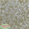 12mm White Clear Marble Beads sold in packages of 50 beads