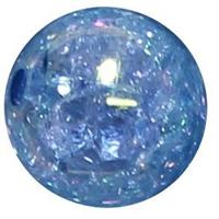 12mm Acrylic Baby Blue Crackle Bubblegum Bead