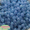 12mm Baby Blue Crackle Bubblegum Beads sold in packages of 50 beads