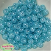 12mm Blue Crackle Bubblegum Beads sold in packages of 50 beads