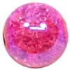 12mm Acrylic Hot Pink Crackle Bubblegum Beads sold by the bead