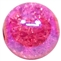 12mm Hot Pink Crackle Bead