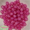 12mm Hot Pink Crackle Bubblegum Beads sold in packages of 50 beads