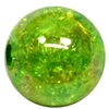 12mm Acrylic Green Crackle Bubblegum Beads sold by the bead