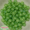 12mm bulk Lime Green Crackle Beads 200 pc