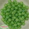 12mm Green Crackle Bubblegum Beads sold in packages of 50 beads