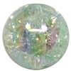 12mm Acrylic Mint Crackle Bubblegum Beads sold by the bead