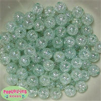 12mm Mint Crackle Beads