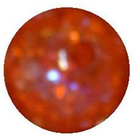 12mm orange crackle acrylic bead2mm hole  sold by the bead