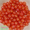12mm bulk Orange Crackle Beads 200 pc