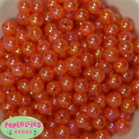 12mm Orange Crackle Beads sold in packages of 50 beads