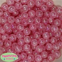 12mm Pink Crackle Beads sold in packages of 50 beads