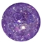 12mm Purple Crackle Bead