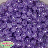 12mm Purple Crackle Beads