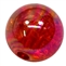 12mm Acrylic Red Crackle Bubblegum Beads sold by the bead