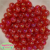 12mm bulk Red Crackle Beads 200 pc