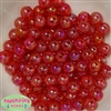 12mm Red Crackle Bubblegum Beads sold in packages of 50 beads