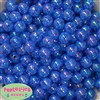 12mm Royal Blue Crackle Bubblegum Beads sold in packages of 50 beads
