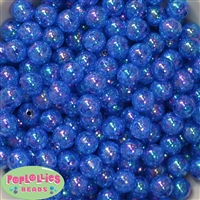 12mm Royal Blue Crackle Beads