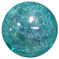 12mm Acrylic Turquoise Crackle Bubblegum Beads sold by the bead