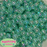 12mm Turquoise Crackle Bubblegum Beads sold in packages of 50 beads