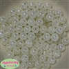 12mm bulk White Crackle Beads 200 pc