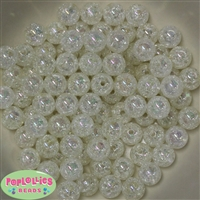 12mm White Crackle Beads