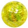12mm Acrylic Yellow Crackle Bubblegum Beads sold by the bead