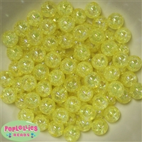 12mm Yellow Crackle Bubblegum Beads sold in packages of 50 beads
