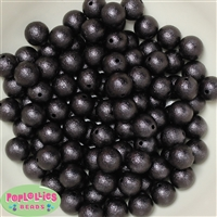 12mm Black Crinkle Pearl Beads 40 pc
