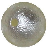 12mm Cream Crinkle Pearl Bubblegum Bead