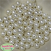 12mm Cream Crinkle Pearl Bubblegum Beads