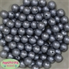12mm Gray Crinkle Pearl Beads