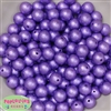 12mm Lavender Crinkle Pearl Bubblegum Beads