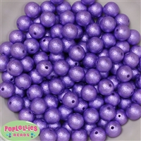 12mm Lavender Crinkle Pearl Beads 40 pc