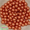 12mm Orange Crinkle Pearl Bubblegum Beads