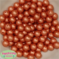 12mm Orange Crinkle Pearl Beads 40 pc